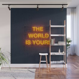 The World Is Yours Neon Wall Mural