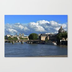 View from the Seine Canvas Print