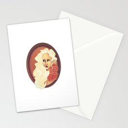Fiona the White Stationery Cards