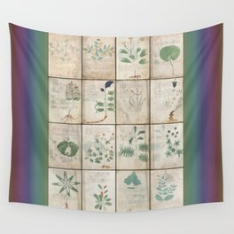 The Voynich Manuscript Quire 1 - Natural Wall Tapestry