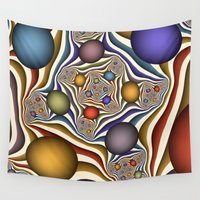 fractal Wall Tapestries featuring Fractal by gabiw Art