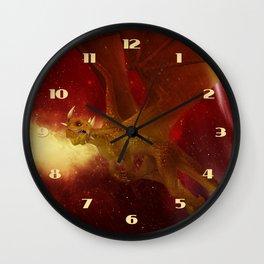 Golden Dragon Wall Clock