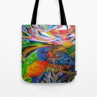 paradise Tote Bags featuring Paradise by shannon's art space