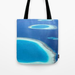 Blue Ocean White Sand Lagoons Maldives Island Paradise Tote Bag