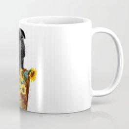 mops in ice cream cone with Sunflowers Coffee Mug