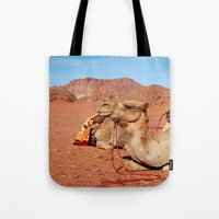 camel Tote Bags featuring camel by lularound