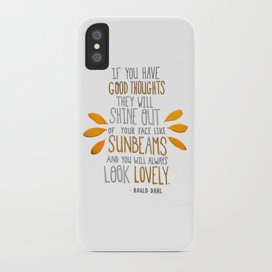 Sunbeams iPhone Case