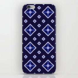 Blue Diamond Pattern iPhone Skin
