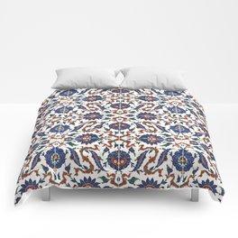 Iznik Pattern Red Blue White Comforters