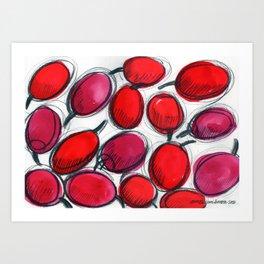 Punaiset marjat Art Print