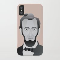 lincoln iPhone & iPod Cases featuring LINCOLN by armantas