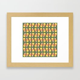 Candy Corn Tango in Forest Green Framed Art Print