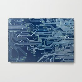 Electronic circuit board Metal Print