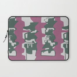 Green Abstract Building Laptop Sleeve