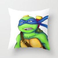 leonardo Throw Pillows featuring Leonardo by Savanity