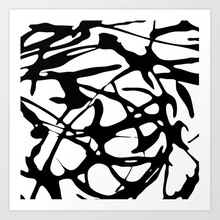 Black And White Abstract Painting Ii Art Print By Nicolegelinas