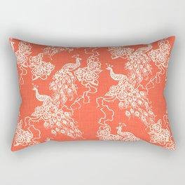 PEACOCK - coral Rectangular Pillow