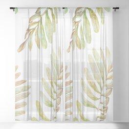 smooth garden Sheer Curtain
