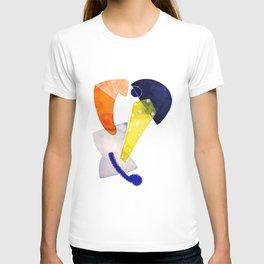 orange-ish T-shirt