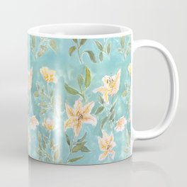 Mint Botanical Pattern Coffee Mug