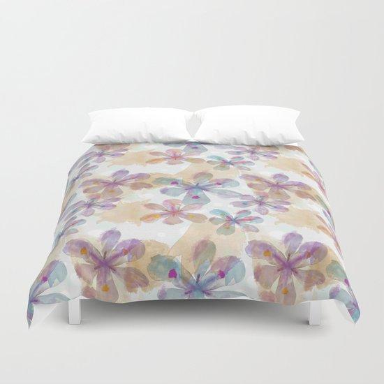 Soft Flower Duvet Cover