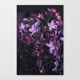 Tranquil Purple Flowers Canvas Print