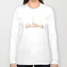 Watercolor landscape illustration_Paris Long Sleeve T-shirt