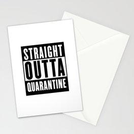 Straight Outta Quarantine Stationery Cards
