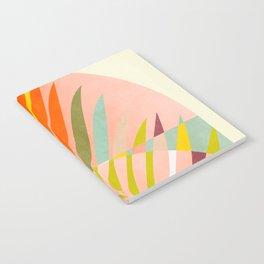 minimal leave tropical spring Notebook