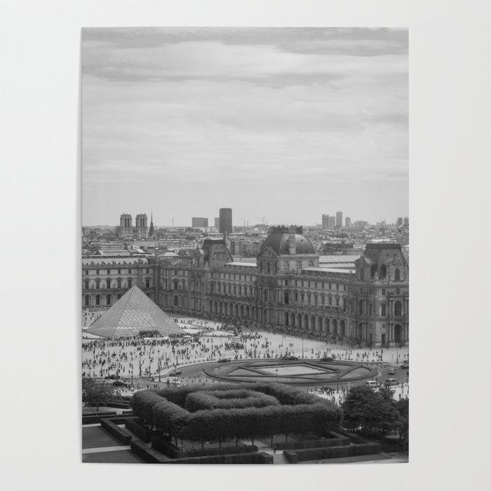 Postcard from Paris  Black and White Vintage Photography  Poster by  agnieszkazalewska