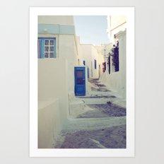 Santorini Door III Art Print