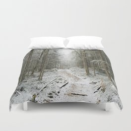 For now I am Winter - Landscape photography Duvet Cover