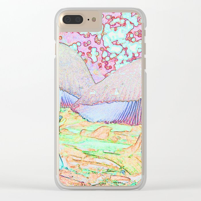 Fairy Houses Clear iPhone Case