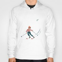 sports Hoodies featuring Sports d'hiver by Vannina