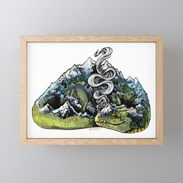 Mountain Dragon Framed Mini Art Print