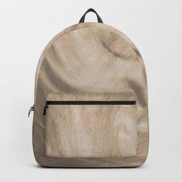 Pantone Hazelnut Flowing Pearlescent Haze, Opalescent Fluid Art Backpack