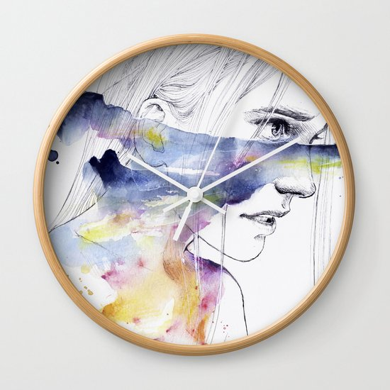 the water workshop IV Wall Clock