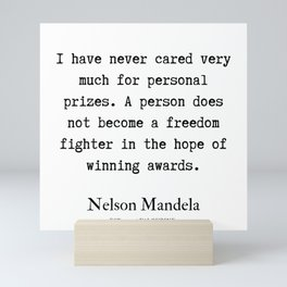 51  | Nelson Mandela  Quotes | 190818 Mini Art Print