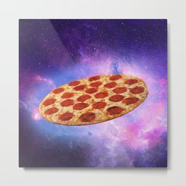Cosmic pizza destroyer Metal Print