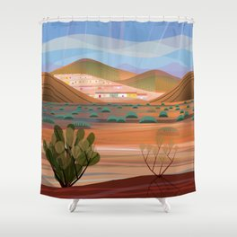 Copper Town (Square) Shower Curtain