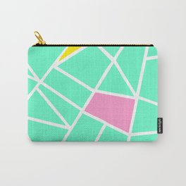 Spring green geometric motif with colored pieces Carry-All Pouch