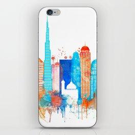 Dubai watercolor iPhone Skin