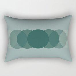 Emerald Green Circle Gradient Rectangular Pillow