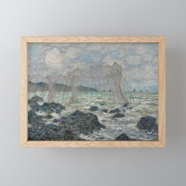 Fishing Nets at Pourville Framed Mini Art Print