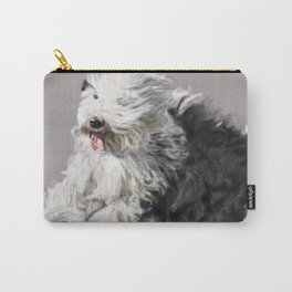 Old English Sheepdog On the Move Carry-All Pouch