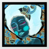 Art Print featuring African Beautiful by Soloka
