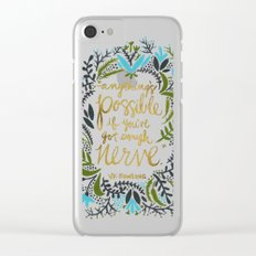 Anything's Possible Clear iPhone Case
