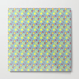 Early Bird Pattern by Holly Shropshire Metal Print