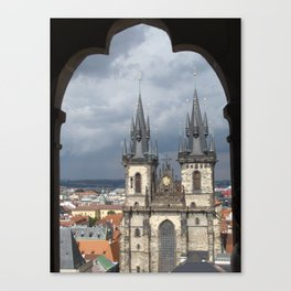 Prague from Town Hall Tower Canvas Print