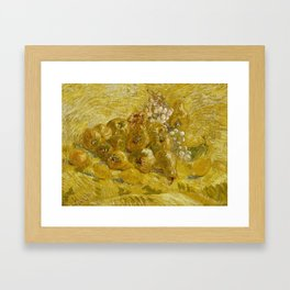 Quinces, Lemons, Pears and Grapes by Vincent van Gogh Framed Art Print